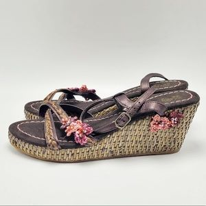Anthropologie Bou Bou Des Colonies Floral Sandals